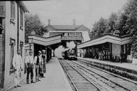 Burgess Hill Station Sussex 1903