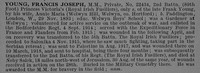 Young F J Pte MM 22434 2nd Royal Irish Fusiliers Obit De Ruvignys Roll Of Honour Vol 4