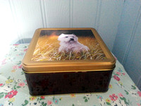 Embossed Biscuit Tin West Highland Terrier