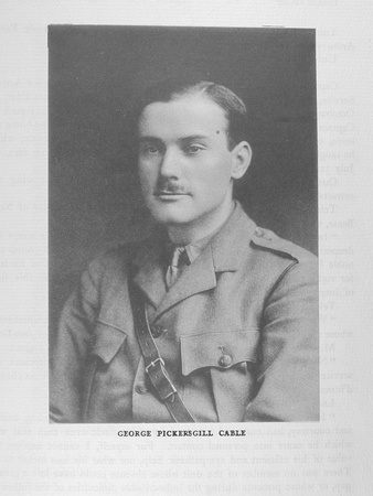 UK Photo Archive: Harrow Memorials Of The Great War  1914-1918 Vol 2 Portraits &emdash; Cable G P 2nd Lt Rifle Brigade