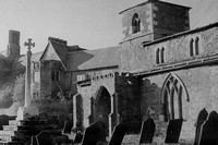 The Old Hall And Church Ragdale Leicestershire 1940s