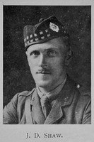 Shaw J D Lt 13th Royal Scots
