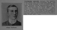 Tatham A Pte 203759 4th East Lancs Regiment Obit De Ruvignys Roll Of Honour Vol 3