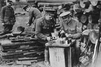 Men Of The Royal Engineers Loading Reserve Stock Of Hand Grenades In The Rear Of The Trenches 1915