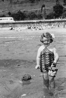 On The Beach At Shanklin With A Mickey Mouse Bucket 1938