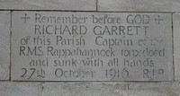 Garrett R Master RMS Rappahannock Mercantile Marine All Saints Church Carshalton Surrey