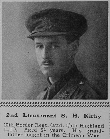 UK Photo Archive: K &emdash; Kirby S H 2nd Lt 10th Border Regt The Sphere 22nd Jan 1916