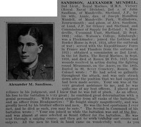 Sandison A M 2nd Lt 1st R.M. Bn. R.N. Div. Royal Marine Light Infantry Obit Part 1 De Ruvignys Roll Of Honour Vol 3