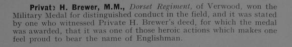 UK Photo Archive: 1917 &emdash; Brewer H Pte MM Dorset Regiment 1