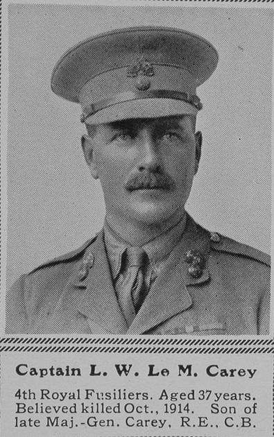 UK Photo Archive: C &emdash; Carey L W Le M Captain 4th Royal Fusiliers The Sphere 27th Nov 1915