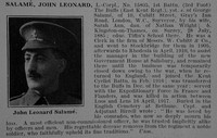 Salame J L LCpl 15805 1st East Kent Regiment Obit De Ruvignys Roll Of Honour Vol 3