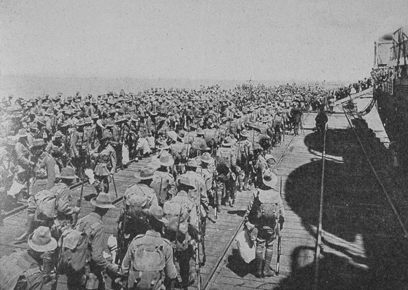 Australian Troops Embarking At Melbourne