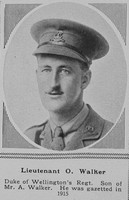Walker O Lt 5th West Riding Regt The Sphere 21st July 1917