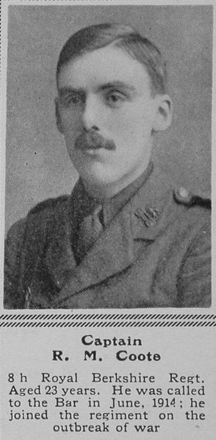 UK Photo Archive: C &emdash; Coote R M Captain 8th R Berks Regt The Sphere 20th Nov 1915