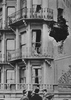 Houses In Scarborough Damaged By Naval Bombardment