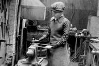 A Woman Worker In The War Hospital Supply Depot In Kensington