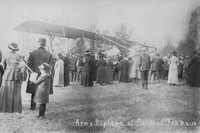 An Army Biplane At Ashtead 24th Feb 1914
