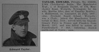 Taylor E Pte 9th Manchester Regiment Obit De Ruvignys Roll Of Honour Vol 3