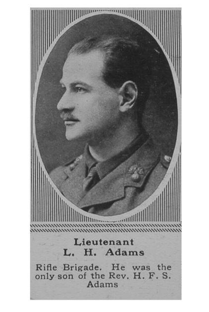 UK Photo Archive: A &emdash; Adams L H Lt 1st Rifle Brigade The Sphere 22nd June 1918