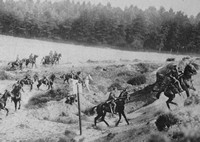 A Patrol Of Cavalry Scouts Setting Off To Reconnoitre
