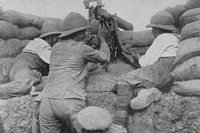 A Machine Gun In The Trenches At Gallipoli