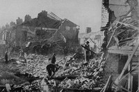 A Scene In Bootle Liverpool After The Blitz May 1941