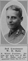 Raby W D 2nd Lt 2nd R Welsh Fus The Sphere 16th Nov 1918
