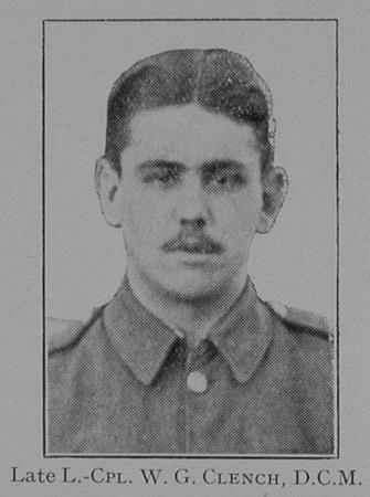 UK Photo Archive: 1917 &emdash; Clench W G LCpl DCM Dorset Regiment