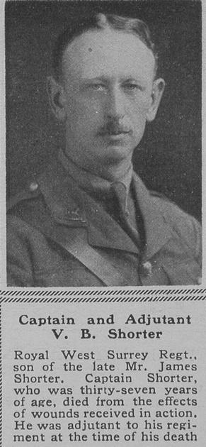 UK Photo Archive: S &emdash; Shorter V B Captain R West Surrey Regt The Sphere 29th Dec 1918