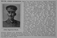 Ruck J E Major 7th Gloucestershire Regiment Obit De Ruvignys Roll Of Honour Vol 1
