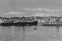 HMS St Helier Arriving At St Peter Port Guernsey 1920s