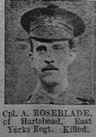 Roseblade A Cpl 6813 1st East Yorkshire Regiment The Vivid 27th Mar 1915