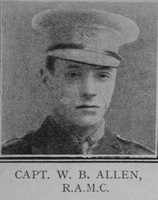 Allen W D Captain VC RAMC The Great War Vol 10