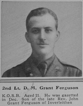 UK Photo Archive: G &emdash; Grant-Ferguson D M 2nd Lt 3rd Kings Own Scottish Borderers The Sphere 10th Jul 1915