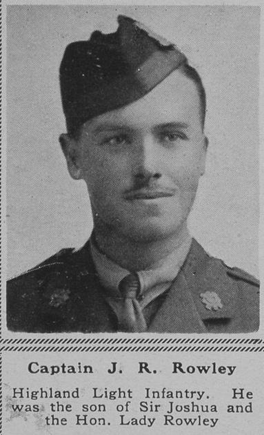 UK Photo Archive: R &emdash; Rowley J R Captain HLI The Sphere 26th Jan 1918