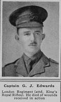 Edwards G J Captain London Regt attd KRRC The Sphere 20th Sep 1917