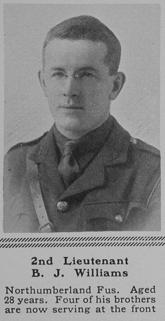 UK Photo Archive: W &emdash; Williams B J 2nd Lt 19th Northumberland Fusiliers The Sphere 8th July 1916
