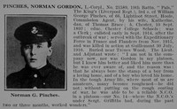 Pinches N G LCpl Obit 19th Kings Liverpool Regiment  De Ruvignys Roll Of Honour Vol 2