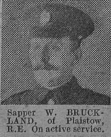Bruckland W Sapper 59662 Royal Engineers The Vivid 27th Mar 1915
