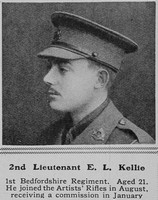 Kellie E L 2nd Lt 1st Bedfordshire Regiment The Sphere 15th May 1915