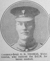 Thomas G B Sergt DCM Welsh Guards The War Illustrated 10th July 1915
