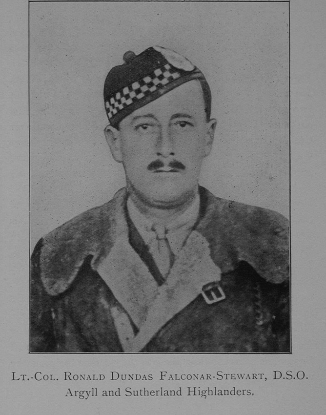 UK Photo Archive: The War Record Of Old Dunelmians 1914-1919 &emdash; Falconar-Stewart R D Lt Col DSO 12th Argyll and Sutherland Highlanders The War Record Of Old Dunelmians 1914-1919