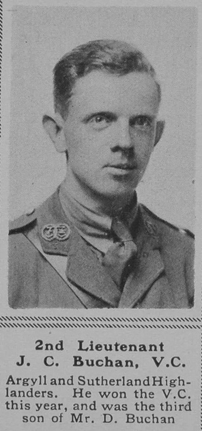 UK Photo Archive: B &emdash; Buchan J C 2nd Lt VC 8th A & S Highlanders The Sphere 19th Oct 1918