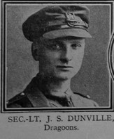 Dunville J S 2nd Lt VC Dragoons The Great War Vol 10