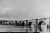 Berwick Bridge Northumberland 1940s