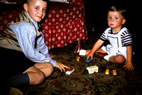 Playing With Toy Cars Christmas 1950s