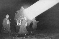 Territorial Army Searchlight In Action 1930s