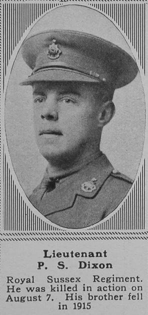 UK Photo Archive: D &emdash; Dixon P S Lt 7th R Sussex Regt The Sphere 21st Sep 1918