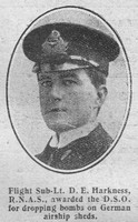 Harkness D E Flt Sub Lt DSO Royal Naval Air Service The Graphic 7th Sep 1916