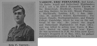 Yarrow E F 2nd Lt 7t Argyll Sutherland Highlanders Obit De Ruvignys Roll Of Honour Vol 1